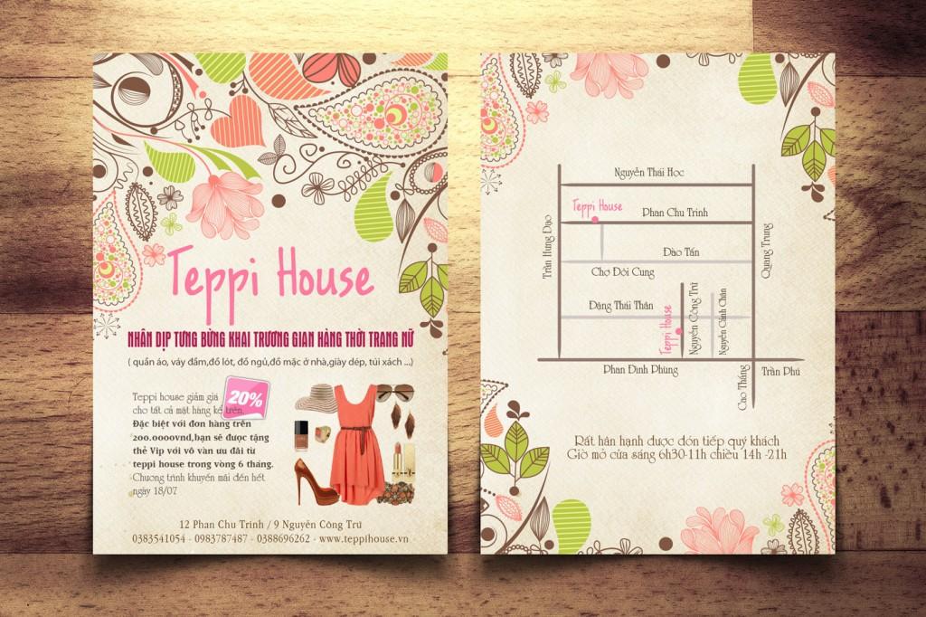 Teppi House - Tờ rơi quảng cáo