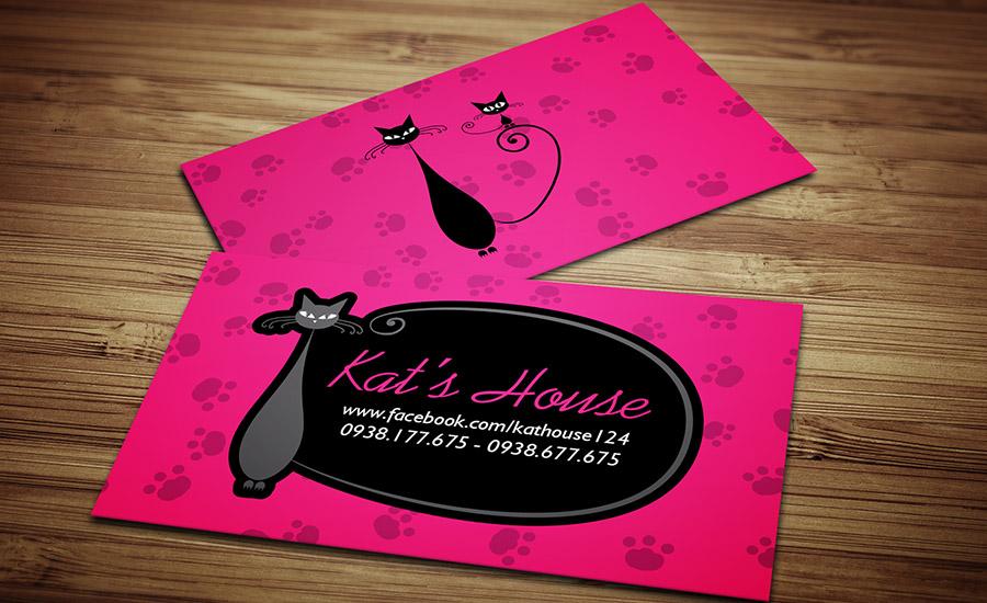Kat's House - Name Card
