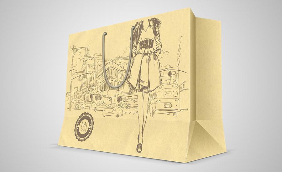 Túi giấy tái chế Mi-Style - Bảo vệ môi trường
