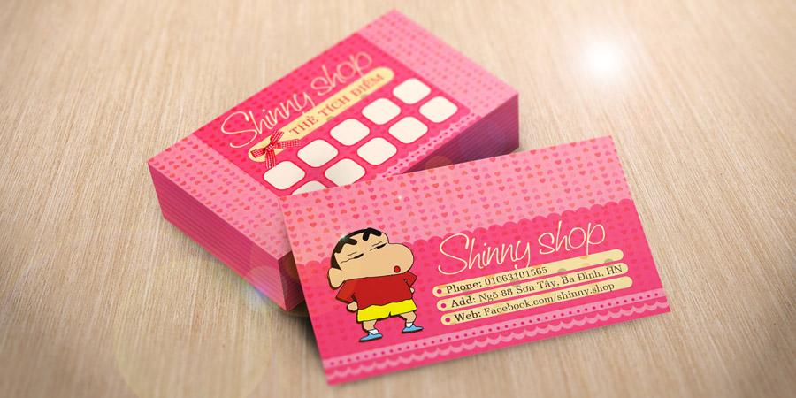Shiiny Shop - Thẻ tính điểm & Name Card