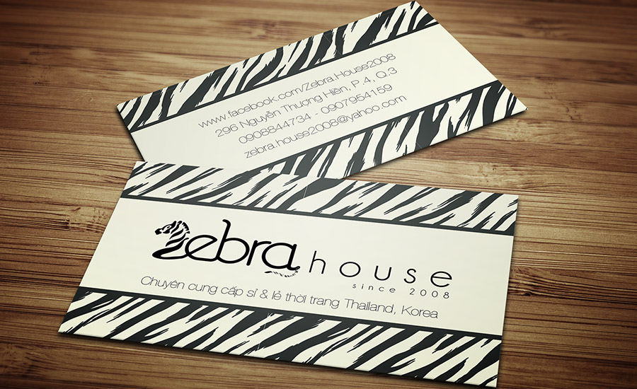 Zebra House - Name Card