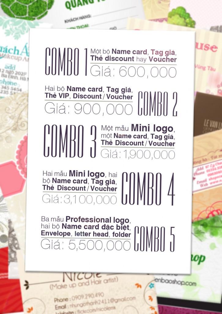 Các gói Combo thiết kế với giá thành cực tốt - AiO Studio