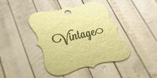 Mini Card, Tag áo Vintage