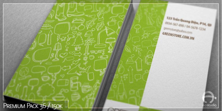 Mẫu thiết kế Danh thiếp có sẵn - Premium Pack 36