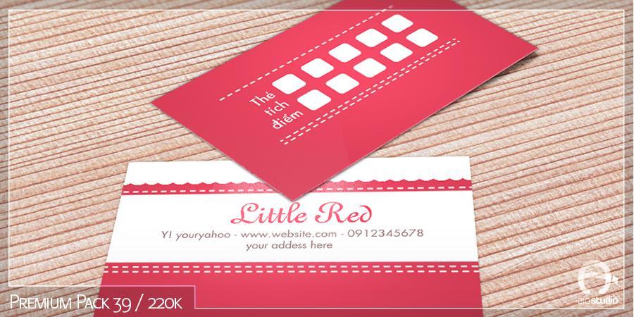 Mẫu thiết kế Card Visit có sẵn - Premium Pack 39