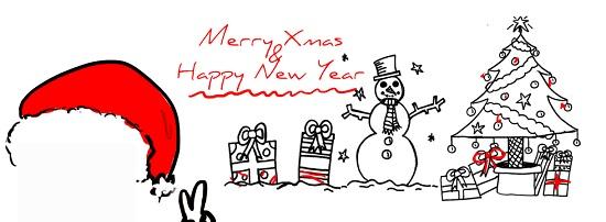 christmas fun drawing facebook cover