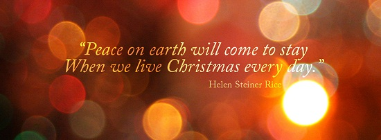 christmas quote facebook cover