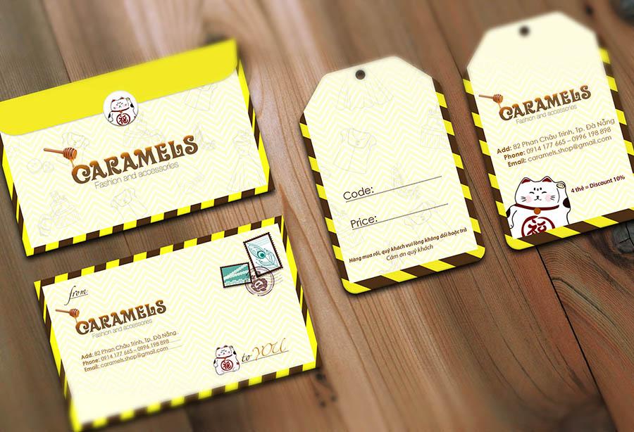 Card Visit & Price Tag - Caramel Boutique