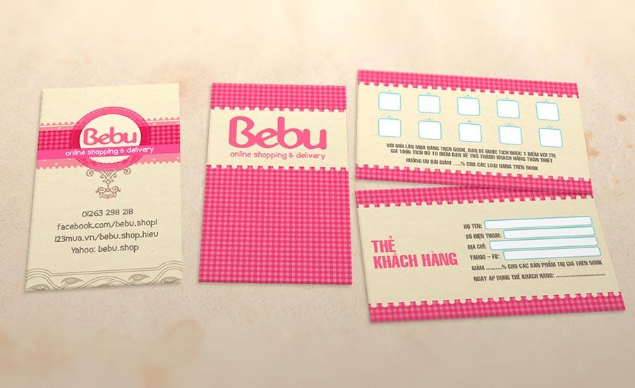 Danh thiếp và thẻ tích điểm Bebu Shop