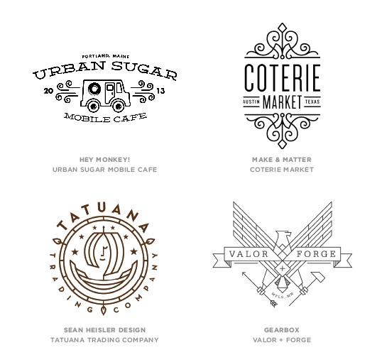 xu huong thiet ke Logo 2014 The Mono Crest
